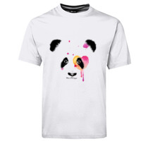 Baby Panda with watercolour heart design