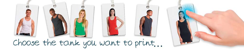 design your own custom printed tanks and singlets.