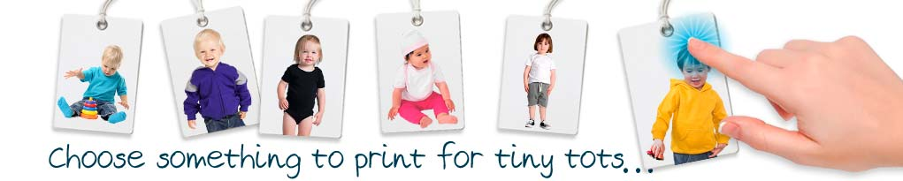 design your own toddlers and babies custom printed tees, tanks, hoodies and singlets.